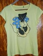 Żółty t shirt z nadrukiem Disney