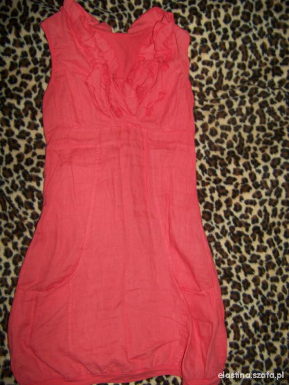 Suknie i sukienki swietna zwiewna koralowa sukienka LATO