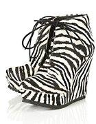 Topshop zebra print wedges