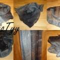 lśniący szal chusta MEGA