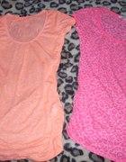 neonowa bluzki tally weijl pomarańcz róż