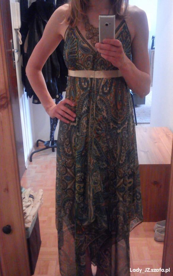 Romantyczne Na upały zwiewna sukienka Maxi