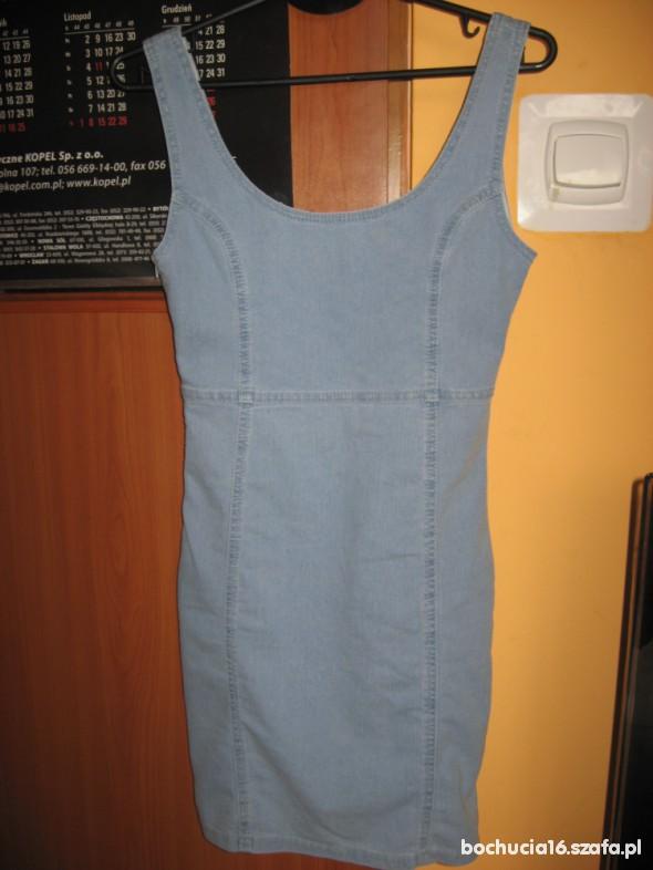Suknie i sukienki Cena z wysyłka sukienka bodycon bandazowa denim co