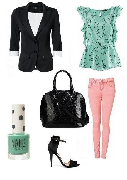 Mój styl Miętowa i różowa