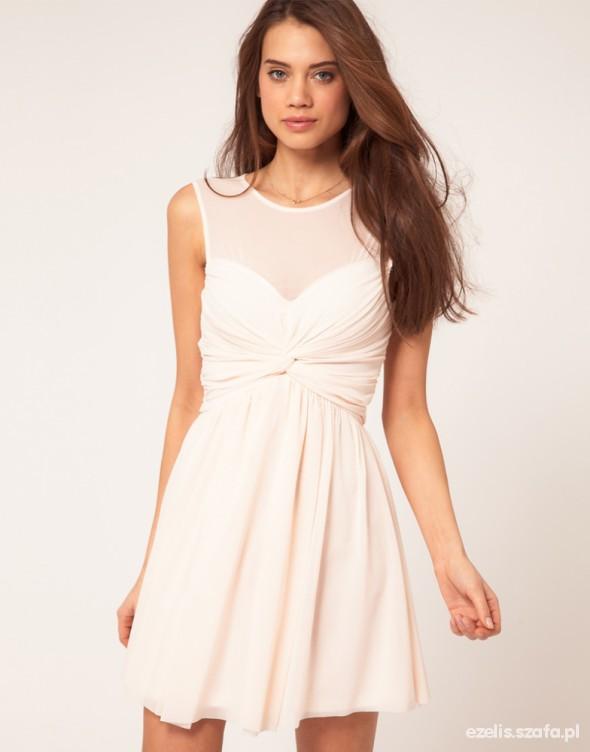 Suknie i sukienki ASOS pudrowa ślicznota