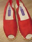 Sandałki czerwone na lato...