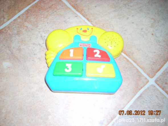 Zabawki interaktywny telefon fisher price