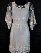 koronkowa sukienka tunika zara...