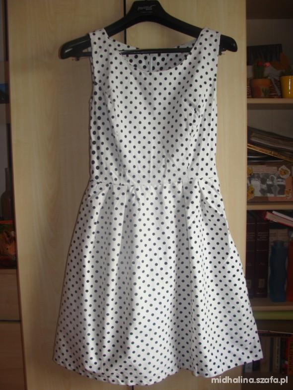 2884a25720 sukienka retro kropki grochy biała wesele asos M L w Suknie i ...