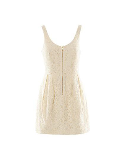 Suknie i sukienki H&M KORONKOWA LACE ZIP KREMOWA XL NOWA METKI