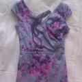 Mohito sukienka szara w kwiatki