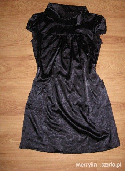 Suknie i sukienki Sukienka tunika granat