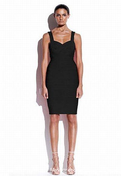 Suknie i sukienki Atmosphere mała czarna bandażowa zip L XL