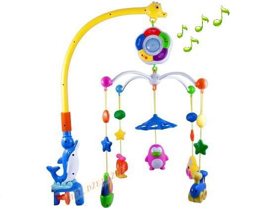 Zabawki Kolorowa duża karuzela z pozytywka lampką zabawki