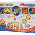 Kolorowa duża karuzela z pozytywka lampką zabawki