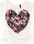 Bluzka z sercem w kwiaty