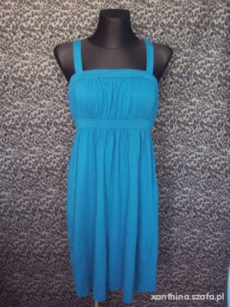 Suknie i sukienki morska turkusowa sukienka
