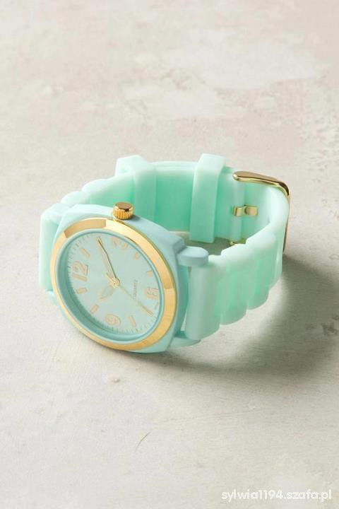 Biżuteria zegarek złoto mięta
