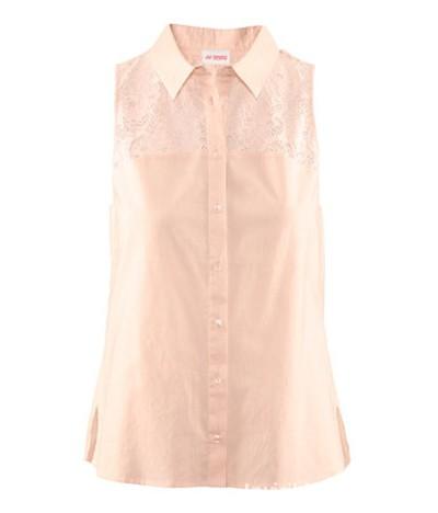 Pudrowa koszula bluzka H&M Conscious Collection