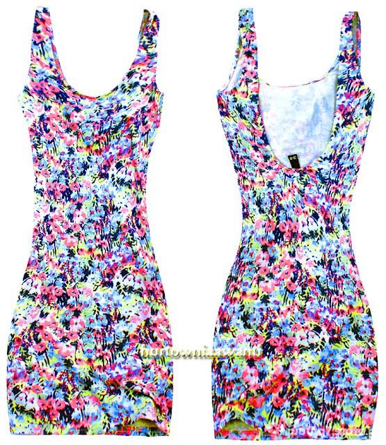 sukienka mini w kwiatki...