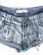 sexy szorty bombki guziki mieta jeans