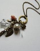Długi naszyjnik zawieszki Kryształy perełki