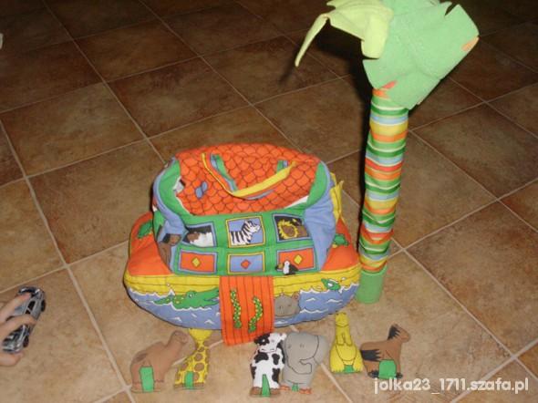 Zabawki miękka arka Noego z mieszkancami