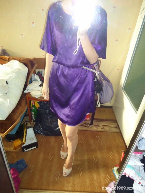 Mój styl sukienka fioletowa