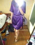 sukienka fioletowa