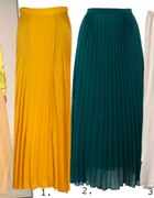 Plisowana szyfonowa MAXI sukienka 36 z zamkiem
