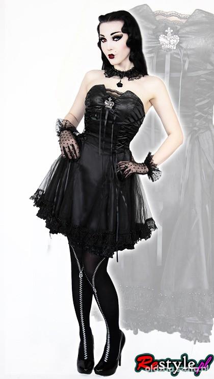 RESTYLE sukienka Punk Rave S jak nowa