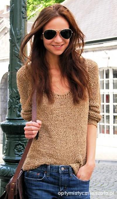 siateczkowany sweter