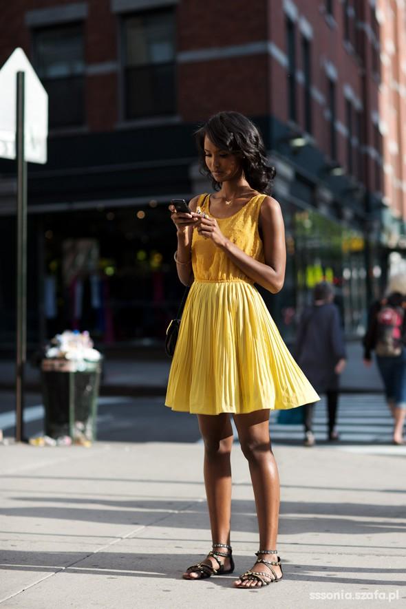 Romantyczne Słoneczna sukienka