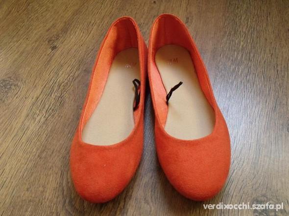 b7d83fcff5129 Pomarańczowe baleriny H and M 38 w Balerinki - Szafa.pl