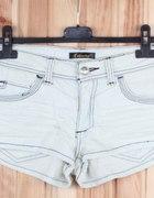 Jeansowe jasne szorty Fracomina