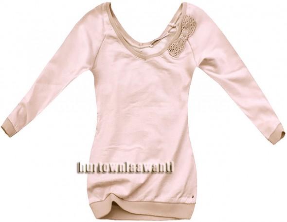 NOWA bluza z kokardką L pudrowa kokarda