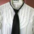 Czarny damski krawat suwak