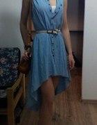 przerobiona sukienka asymetryczna