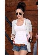 Biała koszulka na ramiączkach