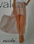 Asymetryczna szyfonowa spódnica nude maxi...