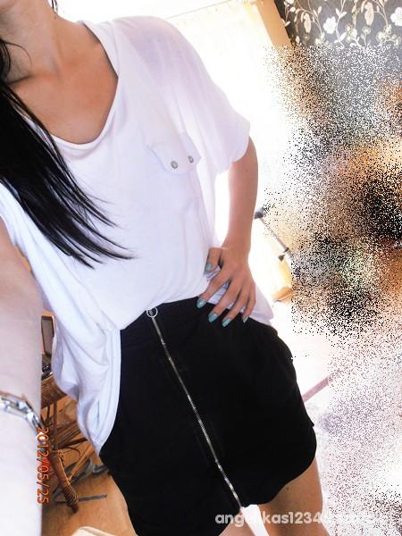 Mój styl spodnica zip mgielka