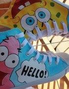 Malowane trampki Spongebob i Patrick