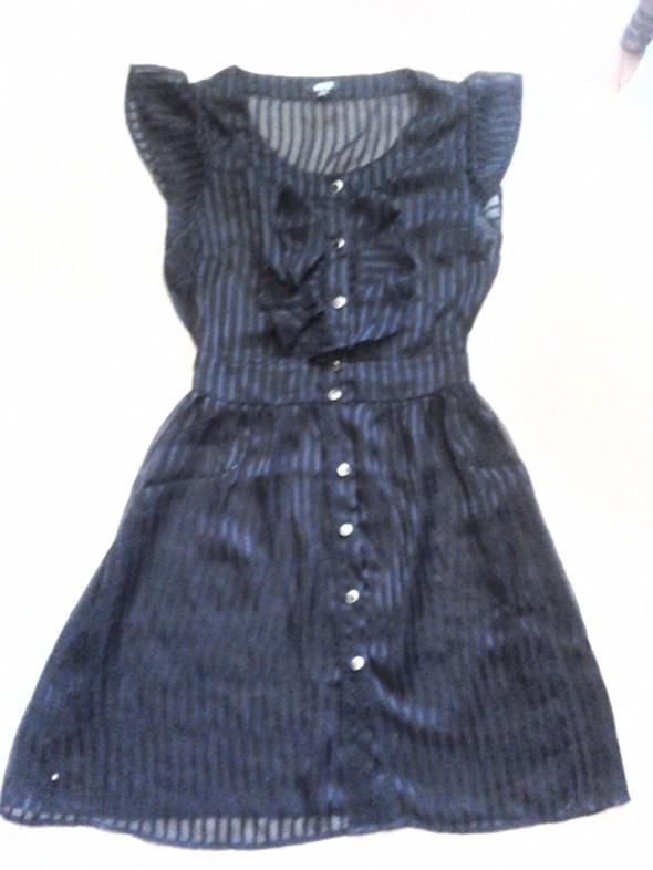 Sukienka mgiełka żabot ASOS
