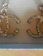 Chanel kolczyki chanelki cyrkoniowe