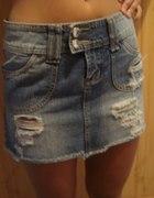 jeansowa MINI 38 BERSHKA okajza
