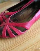 Sandałki Czółenka Czerwone 38
