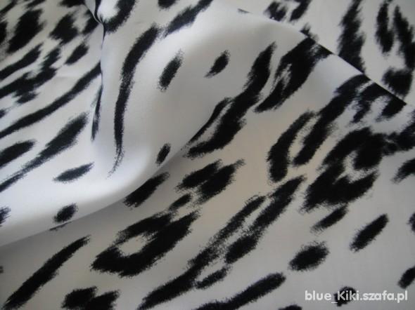 Chusty i apaszki elegancka chusta w biało czarną panterę
