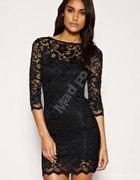 NEW LOOK Koronkowa czarna tunika sukienka
