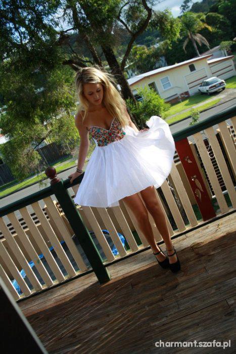Romantyczne Śliczna sukienka