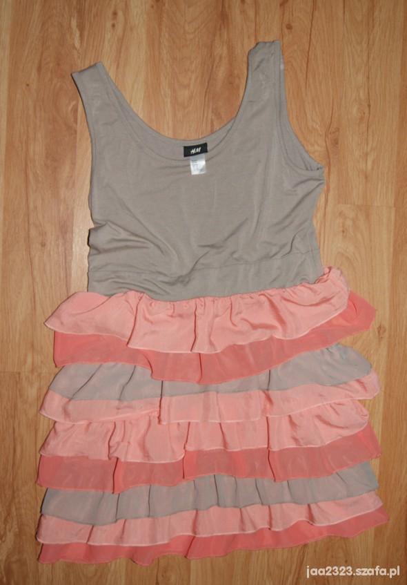 Suknie i sukienki Pastelowa sukienka H&M rozm M